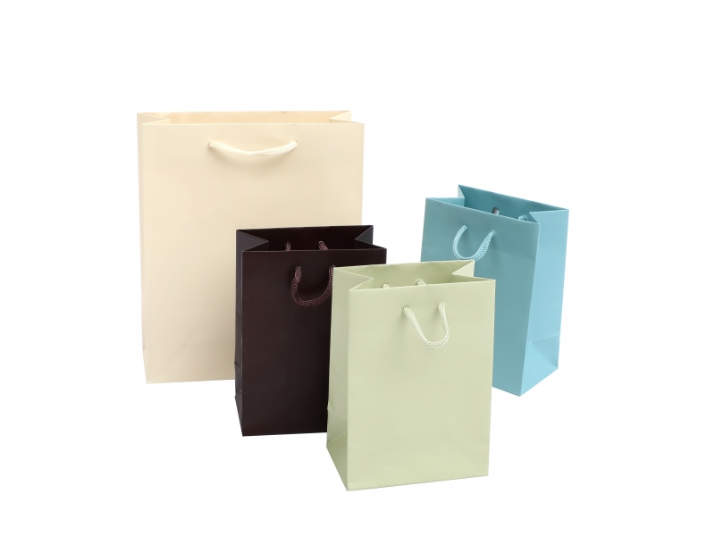 2019 wholesale personalized fashion recycled solid paper bag with handles