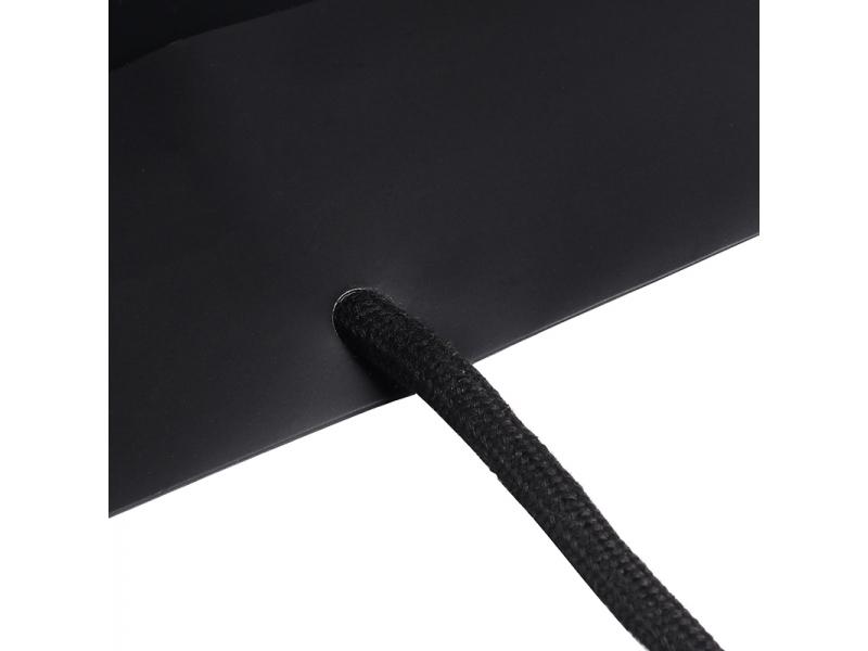 210g Ivory matt lamination customized logo shopping paper bag in black