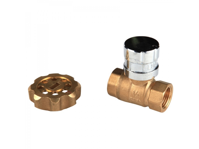 Brass Magnetic Lockable Ball Valve