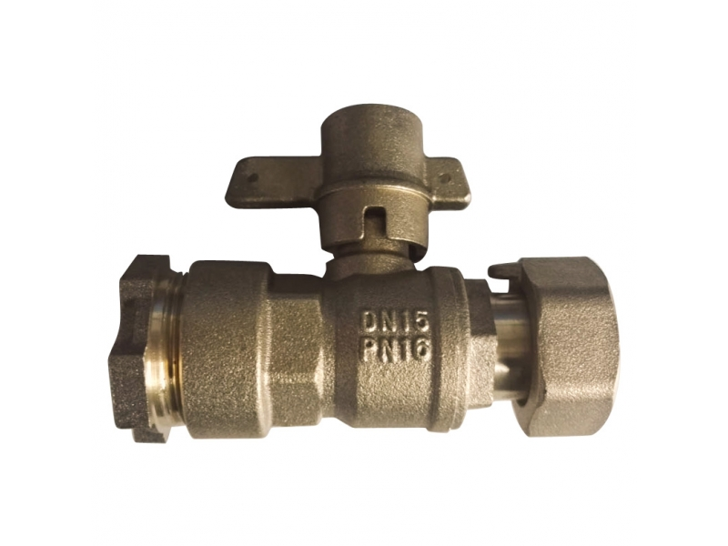 Lockable straight  Brass Ball Valve