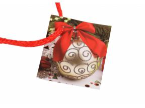 Hot selling fashion christmas decoration design gift paper bag with tag