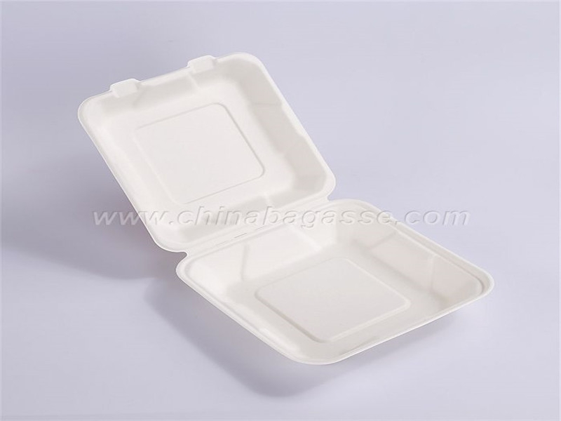 Paper Pulp Tableware 6 Inch Hamburger Box