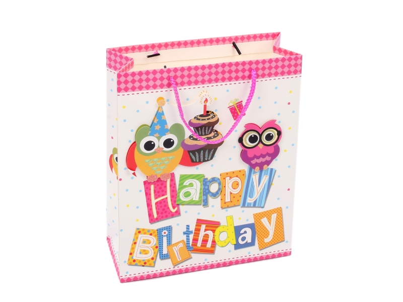 Good quality direct factory price birthday matt lamination gift paper bag