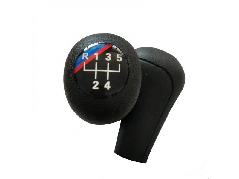 Black 5/6 Speed Manual Car Gear Shift Knob With Leather For BMW 1 3 5 6 Series E30 E32 E34 E36 E38 E