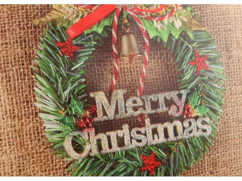 BSCI audit christmas design matt lamination shopping gift packing bag