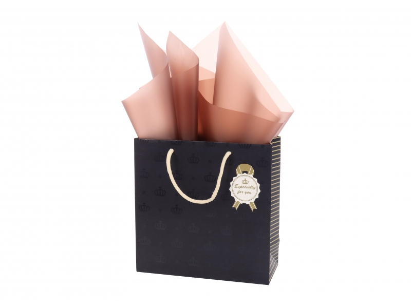 Wholesale square customized UV printing packing shopping paper bag