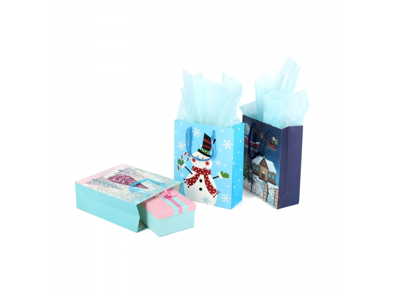 Recycled fashionable christmas decoratio deisgn good quality paper gift bag