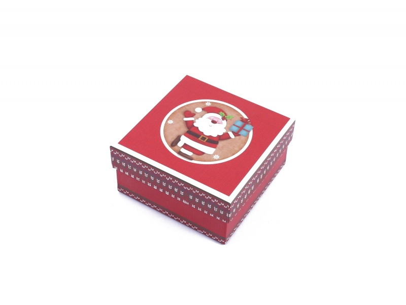 Merry Christmas Promotional Decorative Cardboard Gift Boxes with Lids