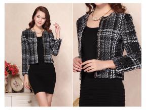 The new south Korean women's clothing woolen cloth short coat female tassel European cloth coat