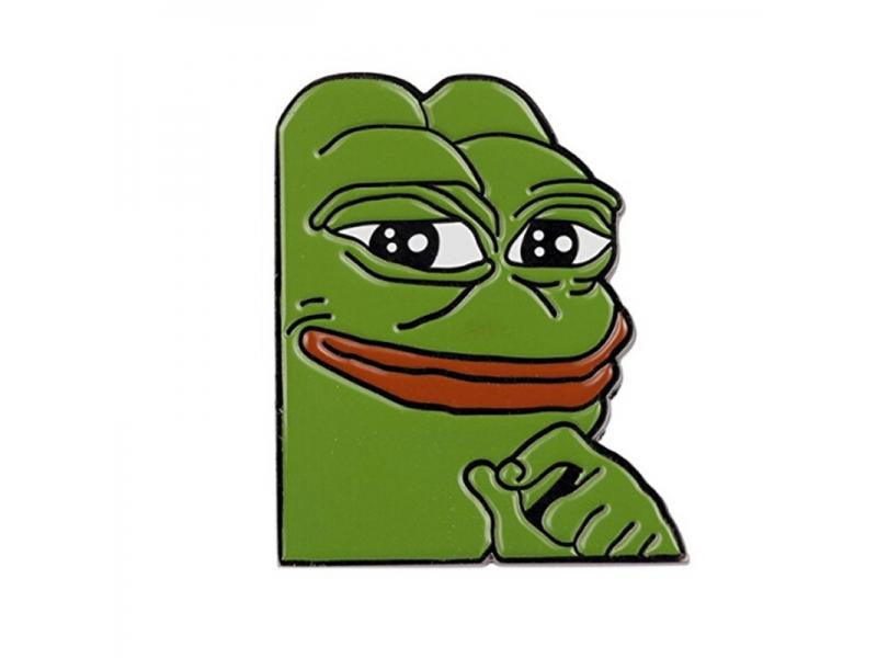 Smug Frog Pepe Custom Lapel Pin