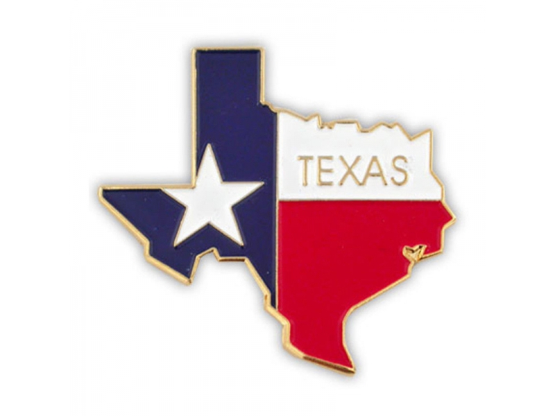 Texas Flag Metal Lapel Pin