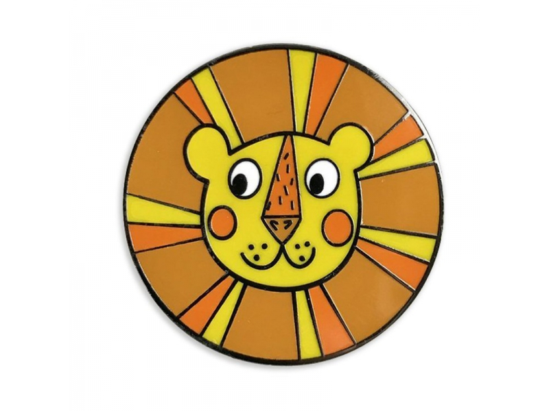 Lion Round Hard Enamel Pins