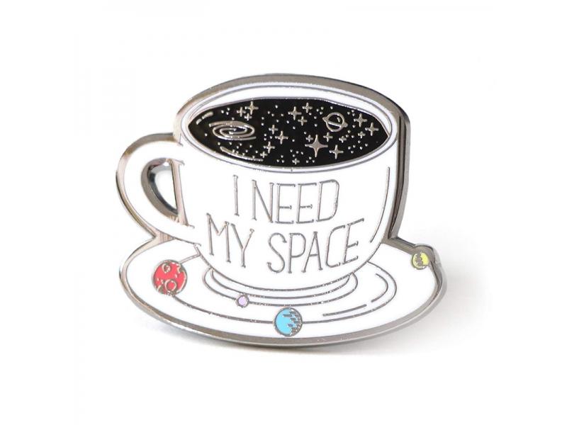 Space Coffee Cup Hard Enamel Pin