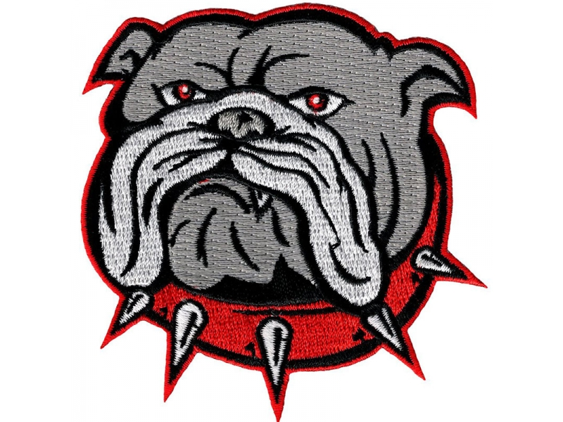 Bulldog Iron on Sew on Applique Embroidery Patch