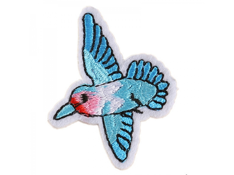 Bird Design Iron on Sew on Patches