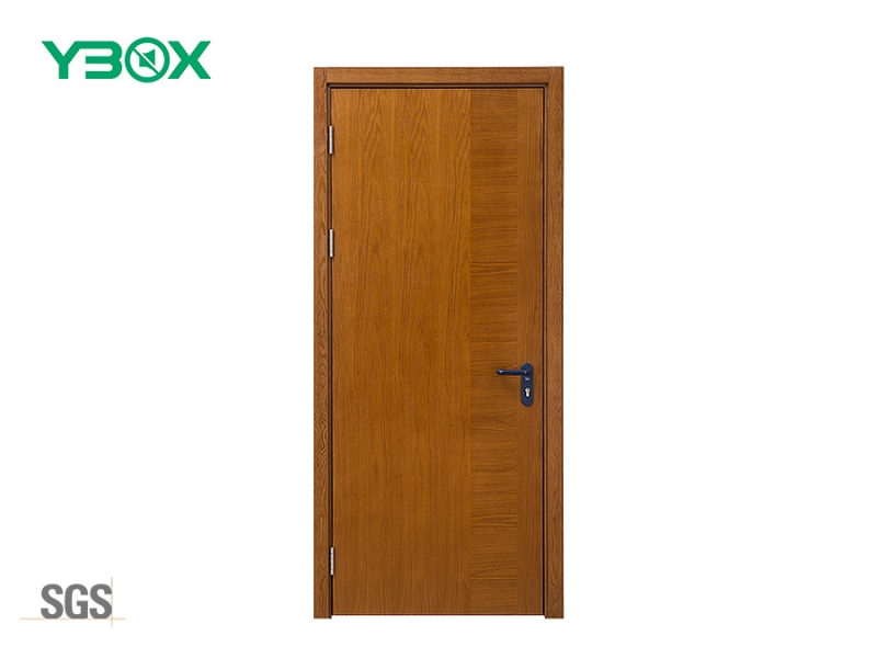 custom-made wood veneer finished soundproof single door for office hospital room