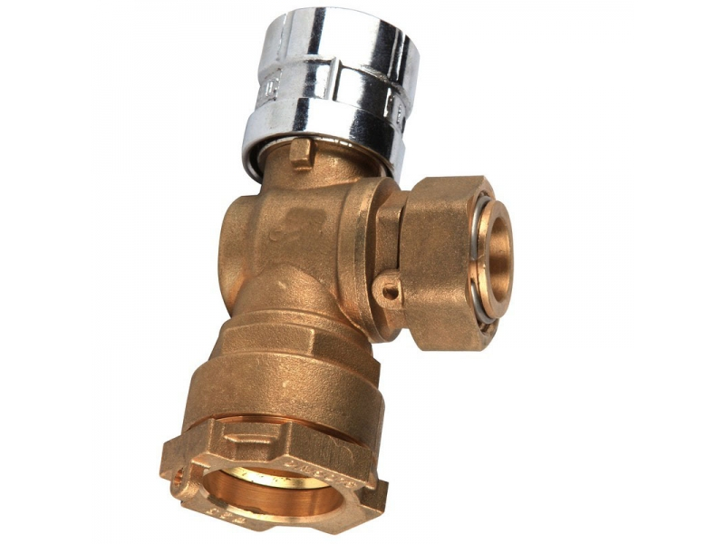 Magnetic Lockable angle Brass Ball Valve