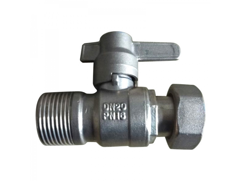 Brass  Straight Lockable Ball Valve for water meter
