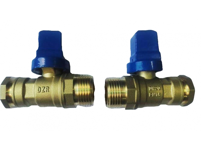 DZR  Brass Ball Valve with Cast Iron Handle