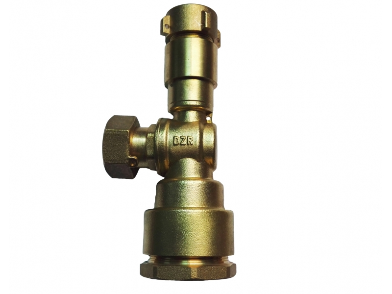 Dzr Brass Forged Angle and straight Lockable Ball Valve