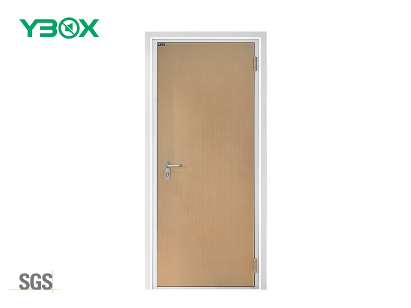 acoustic soundproof wood grain interior steel doors for music studio room