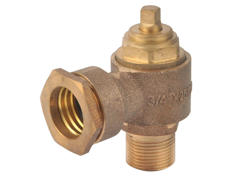 Bronze Screw Down Swivel Ferrule with Compression Connection