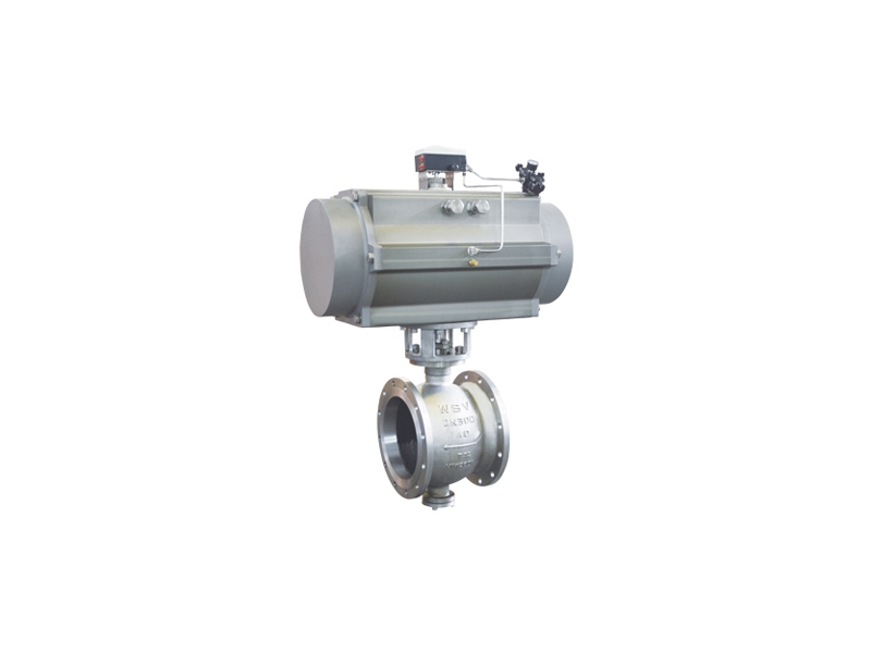 Pneumatic V Port Titanium ball valve