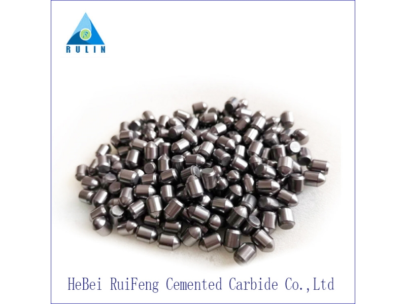 Spherical tungsten carbide button for mining machine