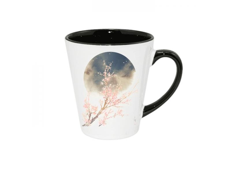 SM001-Inner color & color handle sublimation mug-12OZ