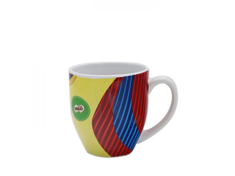 Milo Decal Colorful Drinking Oatmeal Ceramic Mug-9oz