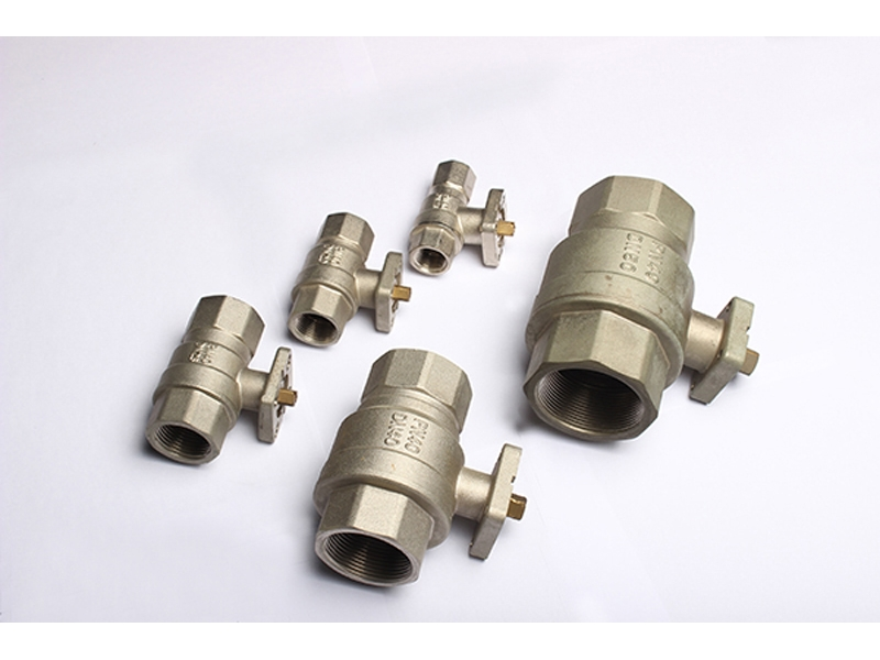 Brass Ball Valve for Actuator with Mounting Pad