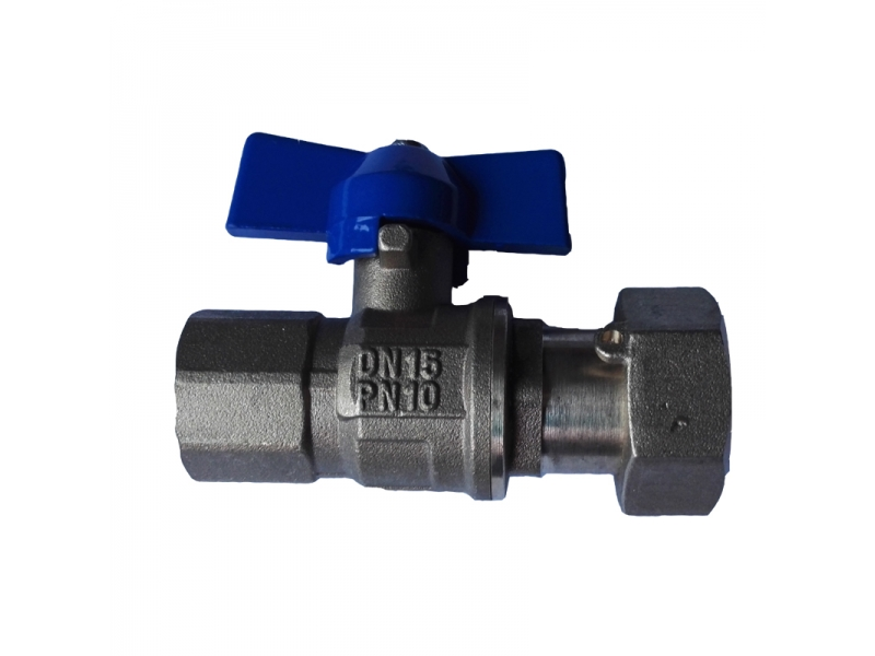 Forged Brass ball valve with check valve