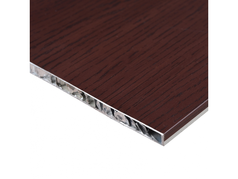 Wooden Texture Finishing Aluminum Honeycomb composite 10mm texture Panel for Wall