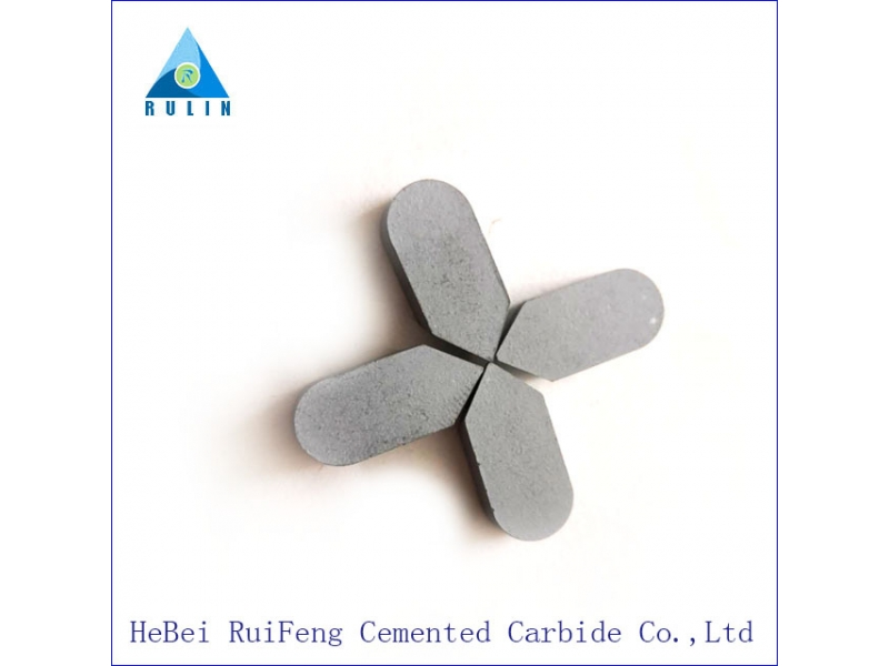 Various types of cemented carbide brazed tips for cutting steel