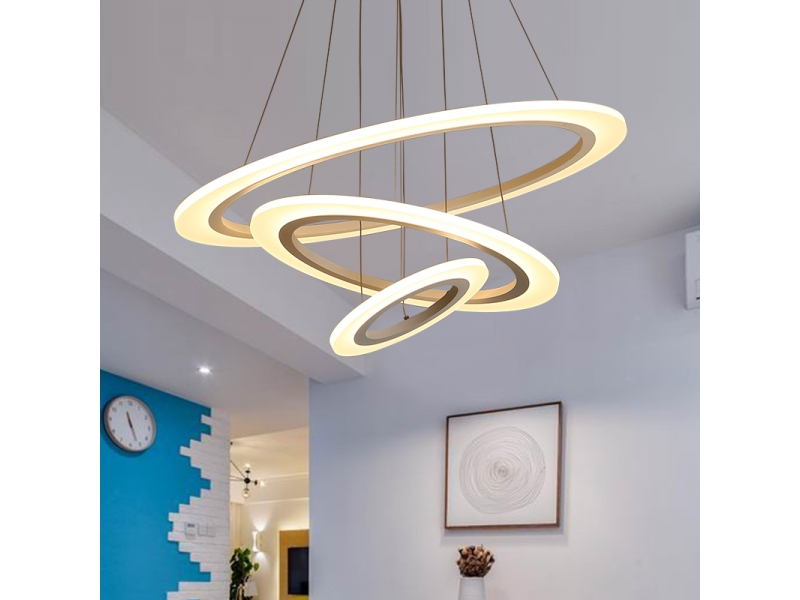 Auboma Modern Pendant Light Golden Aluminum material with non-polar Yellow&White Led Light Chand