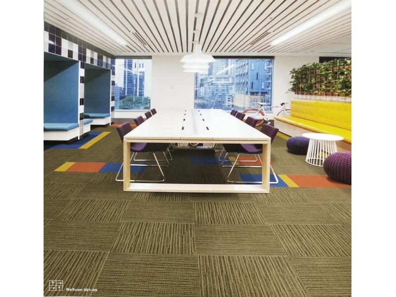 Carpet Tile Boxuan  Series Nylon6,6 Pile Height 5-4-3mm 580/620/640g per sqm Backing PVC