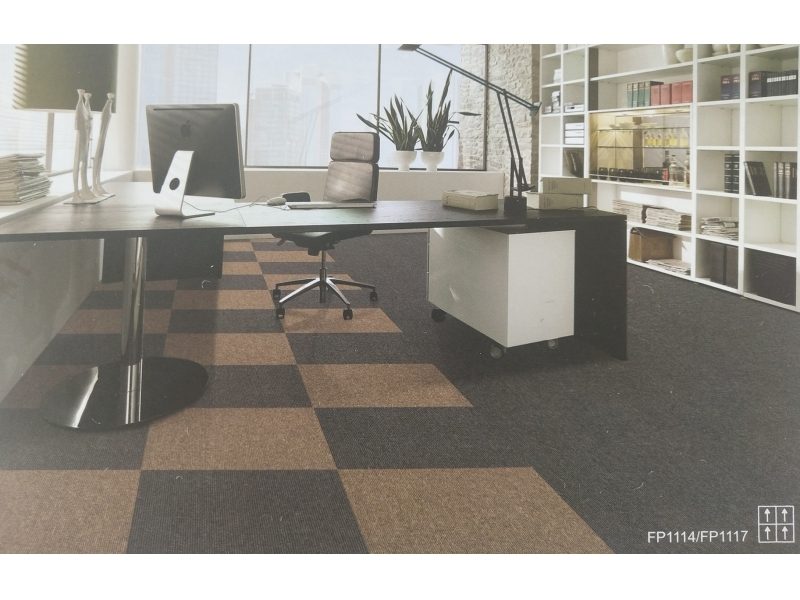 Carpet Tile Level Loop Series PP Pile Height 3.5mm Pile Weight 540g per sqm