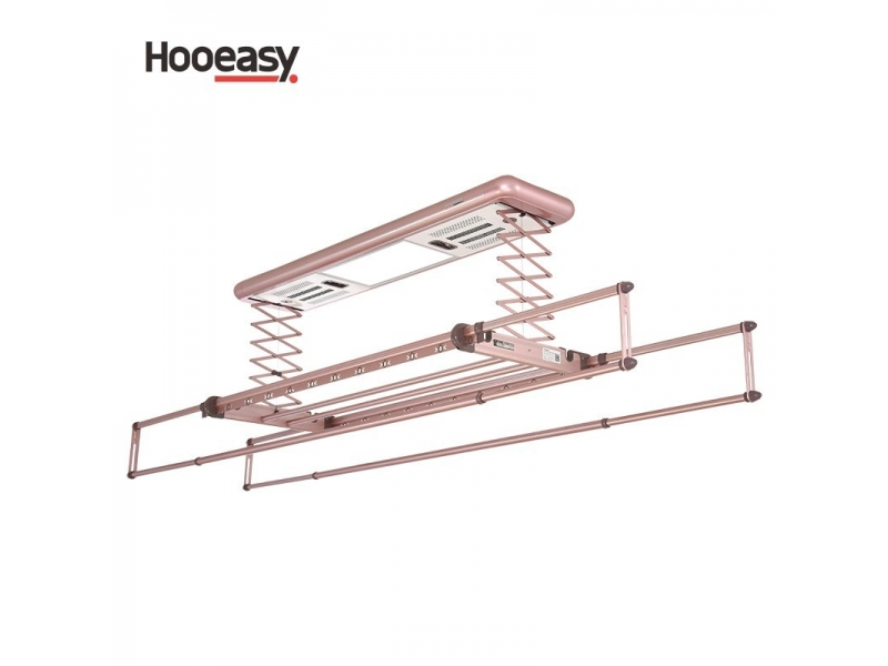 Intelligent remote clothes drying rack hanger for wet clothes