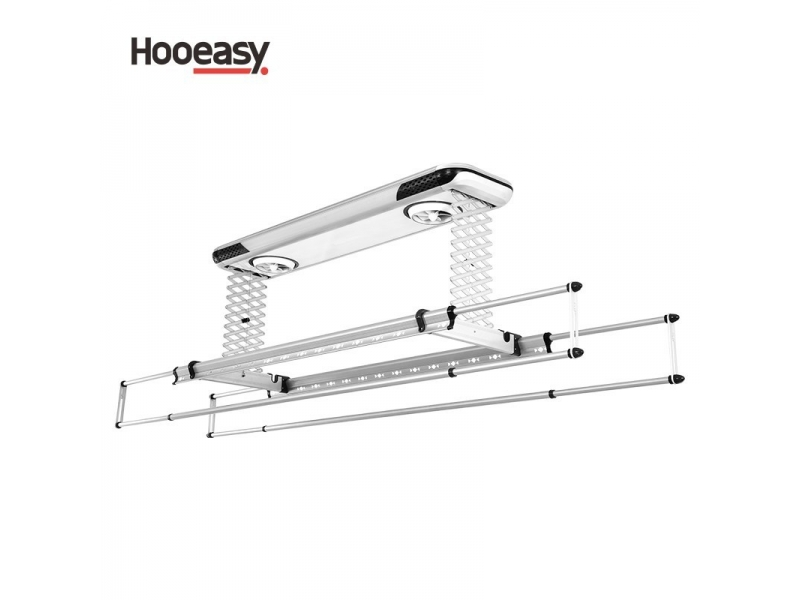 Aluminum material and adjustable style wall mounted clothes hanger rack