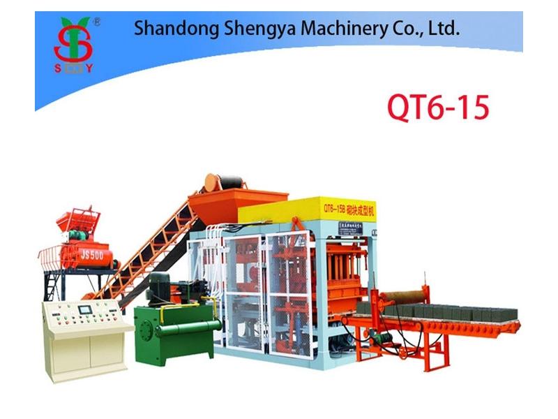 QT6-15 fully automatic hydraulic cement block making machine