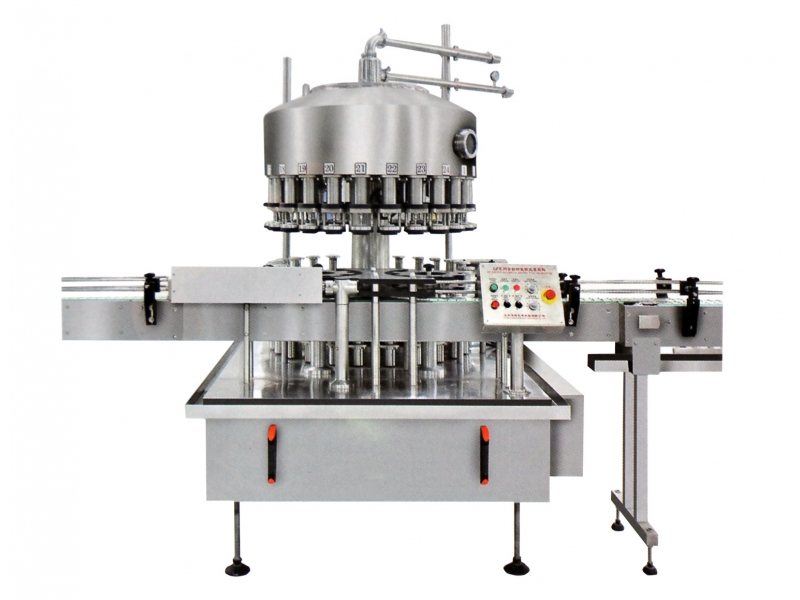 Ganghong factory supply Soy sauce vinegar vacuum self-flow filling capping  machine
