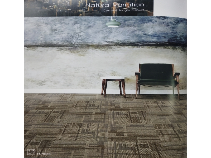 Carpet Tile Natural Variation Series Nylon Pile Height 4-2.5mm Pile Weight 580g per sqm
