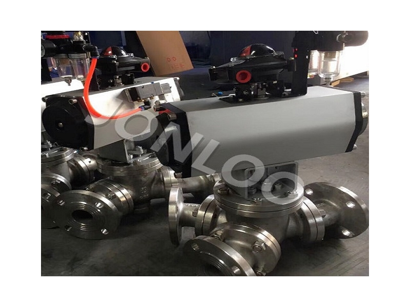 Cast Steel Multi-Port or 3 / Three Way Ball Valve with L or T Port