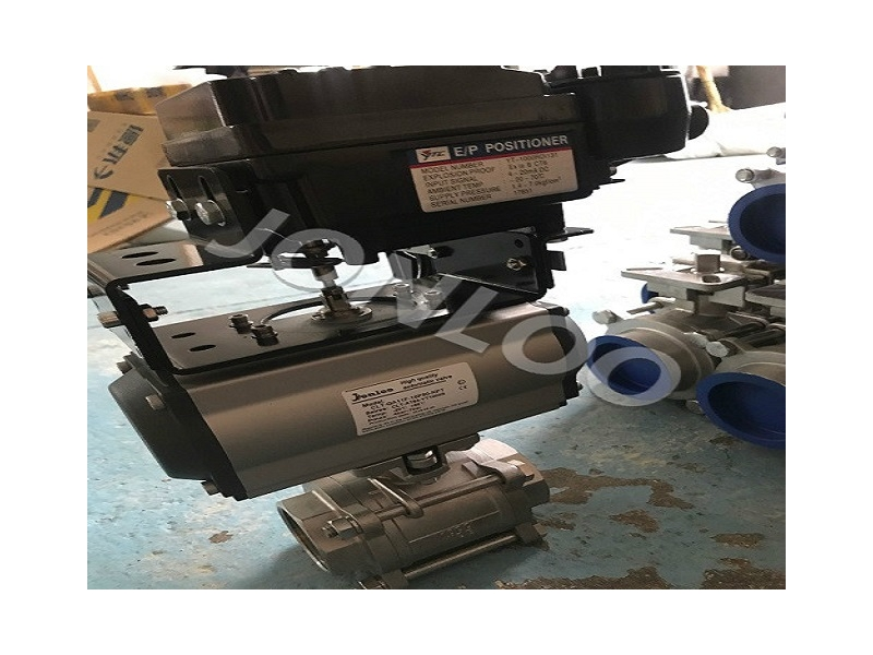 SS Ball Valve with Pneumatic Actuator and Positioner
