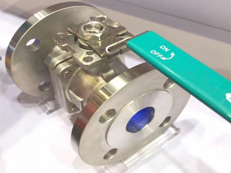 high mounting pad 150LB/300LB flange ball valve