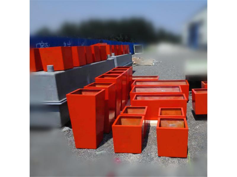 Fiberglass rectangular planter box pot flower pots