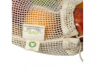 Set of 6 eco friendly market fresh mesh produce bags. S M L. Zero waste.