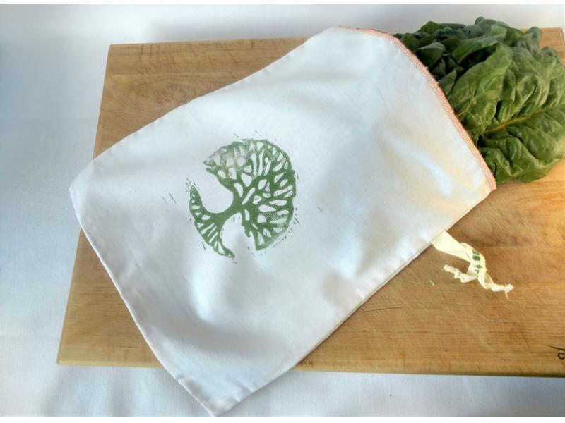 Zero Waste Produce Bag - Bulk Bag - Veggie Bag - Fruit Bag - Shopping Bag, Made with Zero Waste - Ar