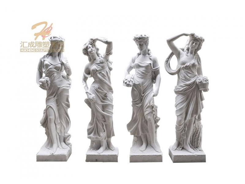 Hand Carve Four Season Lady Goddess Garden Statue Sculpture