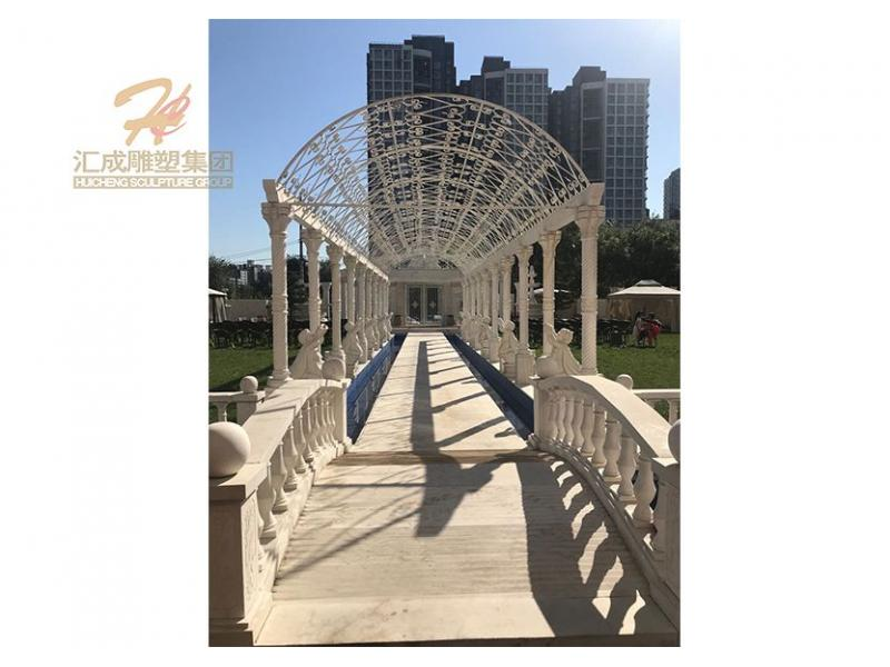 Marble Gallery Long Corridor Gazebo for Wedding